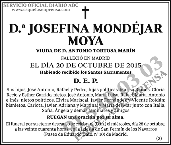 Josefina Mondéjar Moya